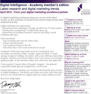 Digital Strategy data - Digital Intelligence April 2012