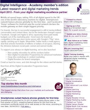 Digital Strategy data - Digital Intelligence April 2013