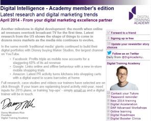 Digital Strategy data - Digital Intelligence April 2014