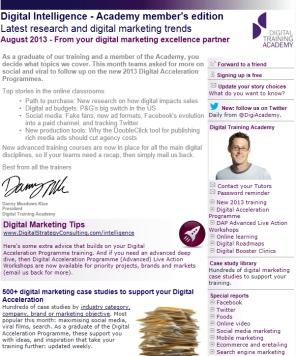 Digital Strategy data - Digital Intelligence August 2013