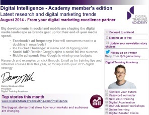 Digital Strategy data - Digital Intelligence August 2014