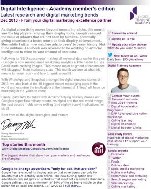 Digital Strategy data - Digital Intelligence December 2013