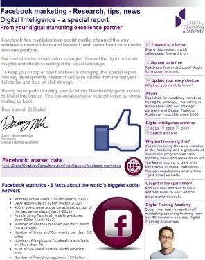 Digital Strategy data - Digital Intelligence Facebook special edition