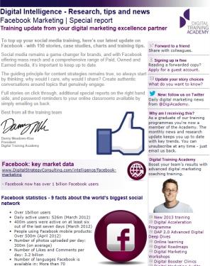 Digital Strategy data - Facebook February 2013