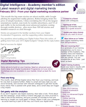 Digital Strategy data - Digital Intelligence February 2013