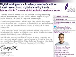 Digital Strategy data - Digital Intelligence February 2014