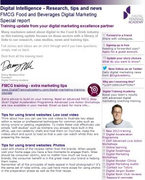 Digital Strategy data - Digital Intelligence FMCG food beverage April 2013