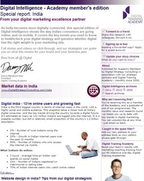 Digital Strategy data - Digital Intelligence India special edition