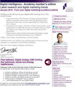 Digital Strategy data - Digital Intelligence January 2014