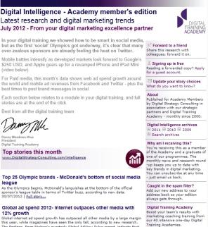 Digital Strategy data - Digital Intelligence July 2012