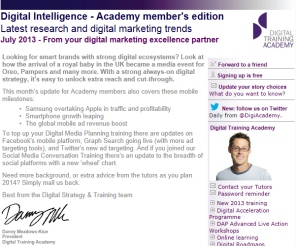 Digital Strategy data - Digital Intelligence July 2013