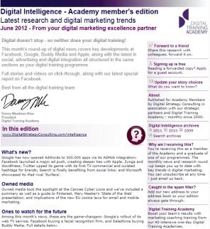 Digital Strategy data - Digital Intelligence June 2012