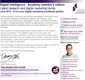 Digital Strategy data - Digital Intelligence June 2013