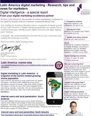 Digital Strategy data - Digital Intelligence Latin America special edition