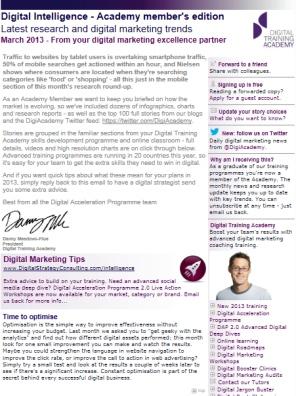 Digital Strategy data - Digital Intelligence March 2013