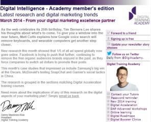 Digital Strategy data - Digital Intelligence March 2014