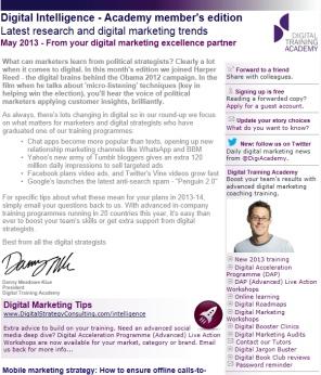 Digital Strategy data - Digital Intelligence May 2013