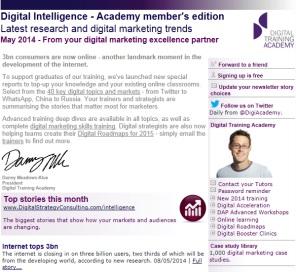 Digital Strategy data - Digital Intelligence May 2014