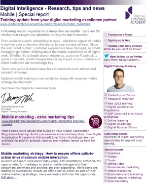 Digital Strategy data - Digital Intelligence Mobile special edition August 2013