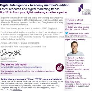 Digital Strategy data - Digital Intelligence November 2013