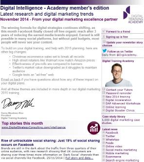 Digital Strategy data - Digital Intelligence November 2014