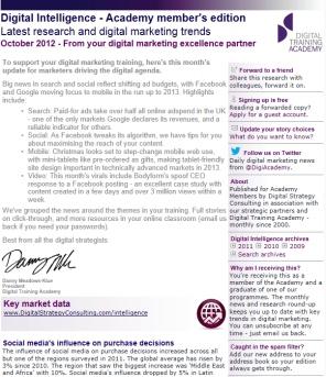 Digital Strategy data - Digital Intelligence October 2012