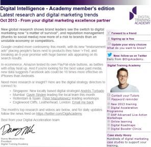 Digital Strategy data - Digital Intelligence October 2013