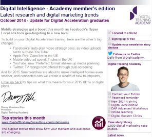 Digital Strategy data - Digital Intelligence October 2014