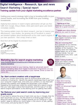 Digital Strategy data - Search Marketing March 2013