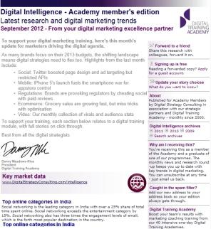 Digital Strategy data - Digital Intelligence September 2012