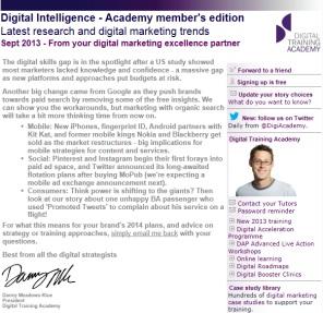 Digital Strategy data - Digital Intelligence September 2013