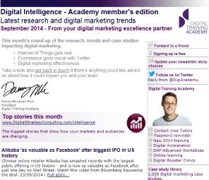 Digital Strategy data - Digital Intelligence September 2014
