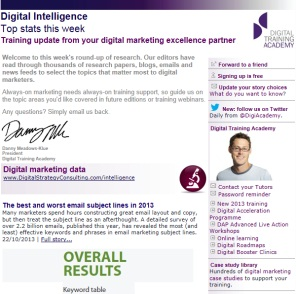 Digital Strategy data - Digital Intelligence - Top stats 08/11/2013