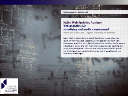 Digital Web Analytics Academy