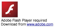 Adobe Flash Player is required